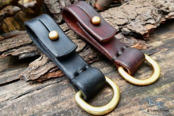 Leather bespoke belt loops with sam browne and D rings by beaver bushcraft