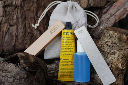 sharpening kit with new pouch for beaver bushcraft