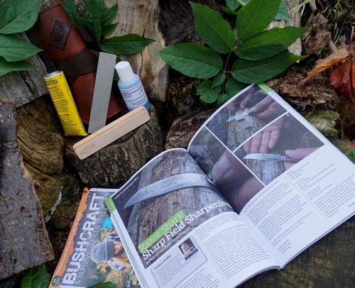 Feild sharpening kit offer by beaver bushcraft and the bushcraft magazine