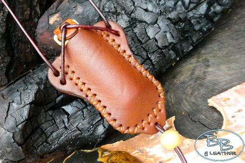 Sami Styled Leather Stash/ Pill Pot Neck Sheath - Hand Crafted