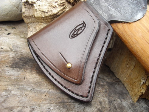 Hand Stitched Leather Gransfors Bruks – Axe Head Sheaths