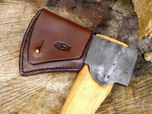 500-Gransfors Bruk Hand Stitched Axe head Sheath