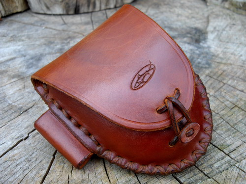 500-Tan Hudson Bay Pouch Cross with Fire Steel Loop