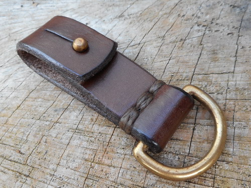 500 leather-16mm belt loop sam browne D ring