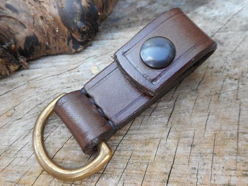 leather belt loop press stud 16mm D ring
