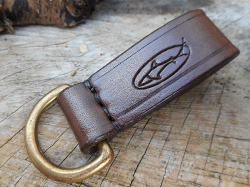 leather belt loop press stud D ring reverse 22mm