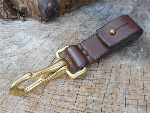 leather-22mm belt loop sam browne bridle hook