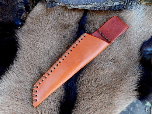 leather-sheath-low-ride-tan-cross stitched