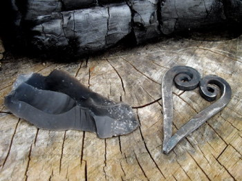 Traditional 'Heart' Shaped Flint & Steel Fire Striker - Bethel Forge (85-1101)