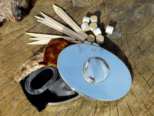 Fire-hudsonbay-German Silver lens cap on with tinder new
