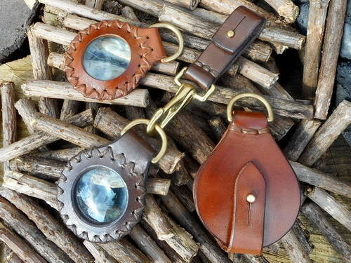 fire-solar pendants x 3 showing belt loop and all styles