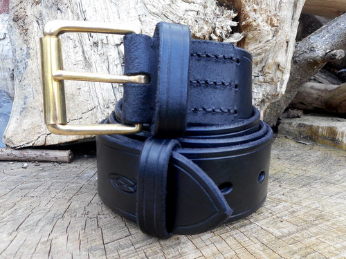 Leather-belts 911 new generic photo black showing whole belt