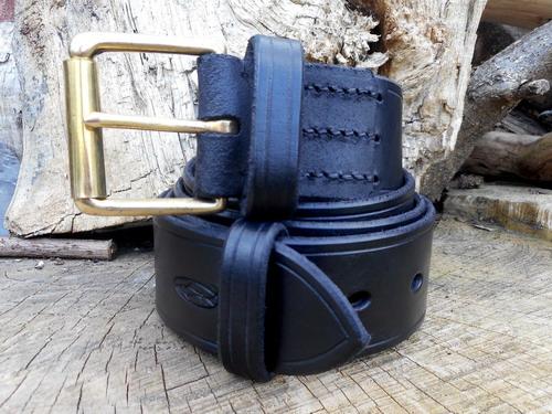 Leather-belts 911 new generic photo black showing whole belt