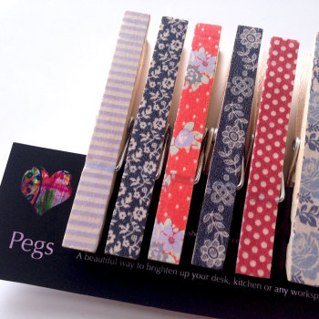 Paper pegs - Floral fun