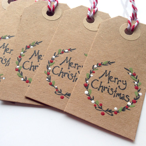 Christmas Wreath Tags