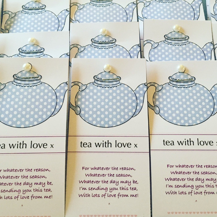 Tea with Love - Spotty teapot