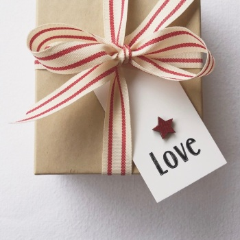 Gift tags - Red star