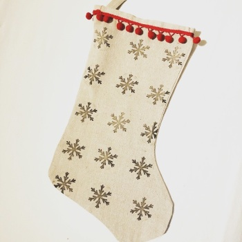 Christmas Stocking - Snowflake