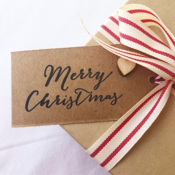 Gift tags - Merry Christmas Heart