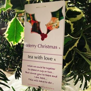 Tea with love Christmas Holly