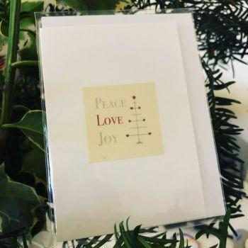Card - Peace, Love, Joy