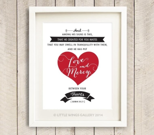Quran Marriage Quote (Red)