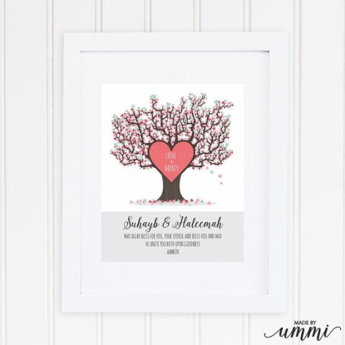 Personalised Marriage Tree Print