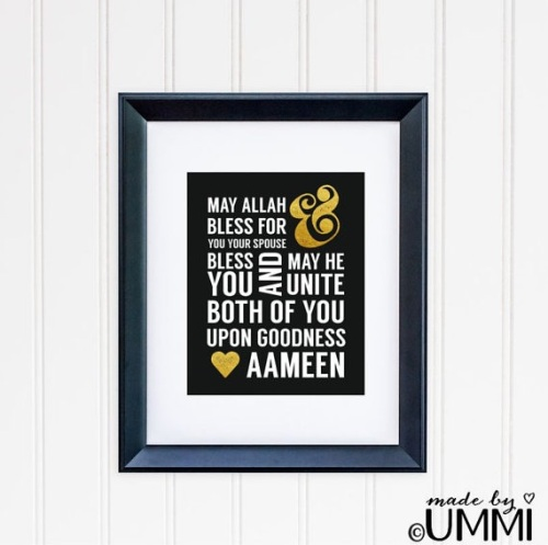 Wedding Quote (Black & Gold)