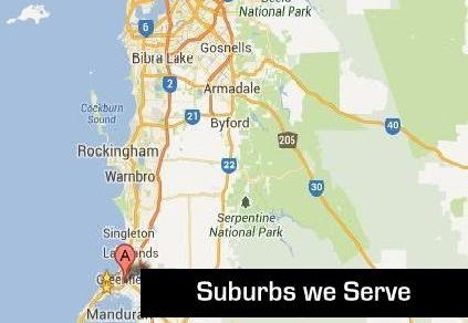 Suburbs We Serve in Western Australia