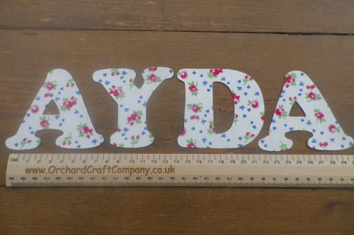 Iron On Fabric Uppercase Letters and Numbers 7.5 cm (3 Inch ) Dotty