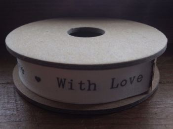 "3 Metre East of India Ribbon ""With Love"""