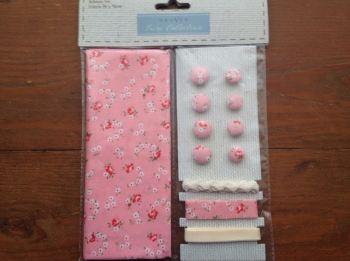 Fabric and Trim Collection- Pink Ditsy