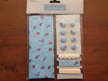 Fabric and Trim Collection- Blue Ditsy