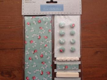 Fabric and Trim Collection- Green Ditsy