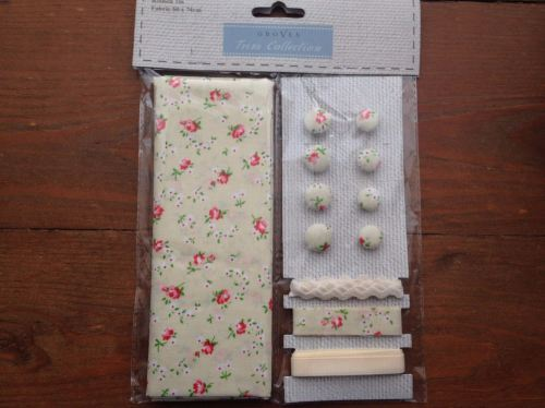 Fabric and Trim Collection- Vanilla Ditsy