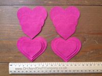12 HEARTS in Quality Felt for Craft & Sewing in 25 Colours