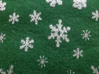 Acrylic Craft Felt, Green Snowflake