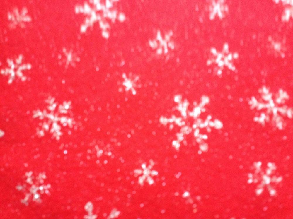 Red Snowflake Acrylic Craft Felt Sheet