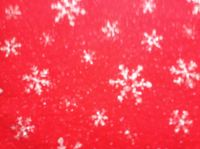 Acrylic Craft Felt, Red Snowflake