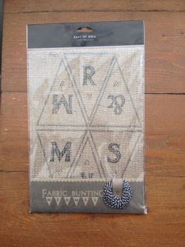 Hessian fabric MR & MRS  Hanging Pennant