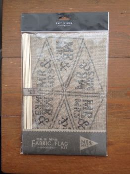 Hessian fabric MR & MRS Flag Kit