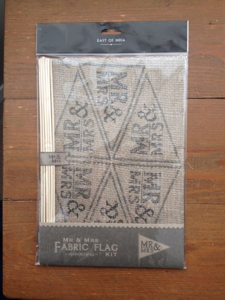 Hessian fabric MR & MRS Flag Kit