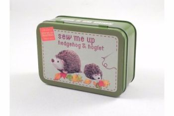 Sew Me Up- Hedgehog and Hoglet, Gifts in a Tin