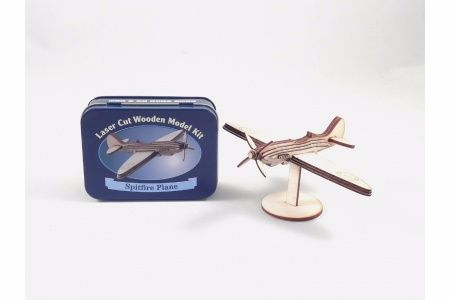 Spitfire Plane Laser Cut Wooden Model Kit