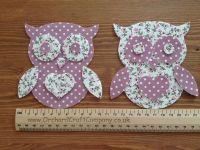 Iron on Fabric Owl Appliques
