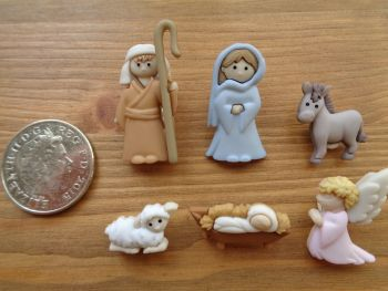 Dress It Up Buttons -  Nativity