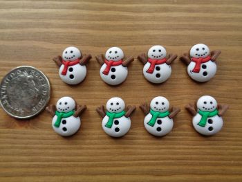 Dress It Up Buttons - Snowmen