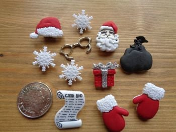 Dress It Up Buttons - Waiting for Santa
