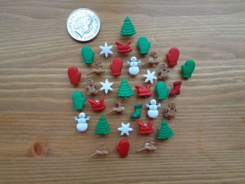 Dress It Up Buttons - Christmas Miniatures