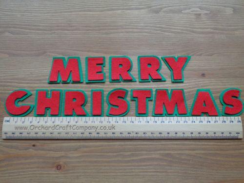 Merry Christmas. Double Chunky Felt 3.5cm letters